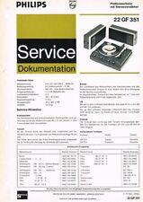 Philips Plattenspieler 22GF351  Schaltplan Manual 1974 Original   gf 351