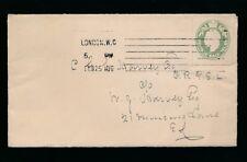 Gb Ke7 1910 Stationery Cutout Paying Printed Rate to Royal Philatelic Soc.Fellow