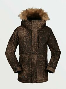 2021 NWT GIRLS VOLCOM SO MINTY INSULATED JACKET $170 M Leopard standard fit