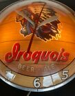 Vintage 1960's Iroquois Beer Double Bubble Wall Clock