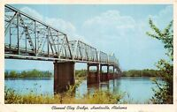 HUNTSVILLE ALABAMA CLEMENT CLAY BRIDGE POSTCARD 1961 PSTMK REDSTONE