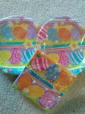 EASTER Luncheon Paper Plates & Napkins  SPRING EGGS ~ 32 EACH ~ NEW!!!
