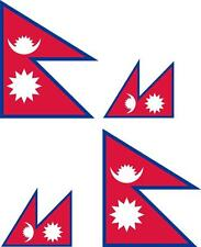 4x Adhesivo adesivi pegatina sticker vinilo bandera vinyl moto coche nepal