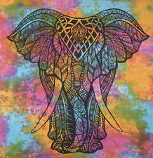 Twin Indian Elephant Head Mandala Tapestry Wall Hanging Bedspread Throw Decor