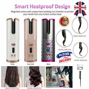 Cordless Wireless Auto Rotating Hair Curler LCD Hair Waver Curling Machine UK