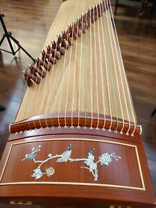 21-String Rosewood Guzheng, Chinese Zither Harp Instrument, Koto