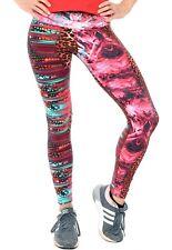 Printed Leggings Brazilian Supplex Women Active Athletic Wear Pants S-M-L-XL