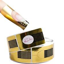Schablonen eckig gold 50 St. von Magical-Nails Anja Beck #Verlängerungsschablone