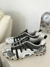 SKECHERS white black floral SNEAKERS SHOES size US 8/UK 5/EUR 38