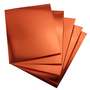 Hygloss Red-Copper Metallic Foil Board Sheets, 8.5 x 11-Inch, Shiny, 25-Sheets
