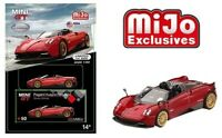 TSM Model Mini GT Pagani Huayra Roadster (Red)  1/64 Diecast Model Car MGT00050