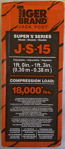Tiger Brand Super S Series  2-1/4 in. Dia. x 12 in. H Jack Post