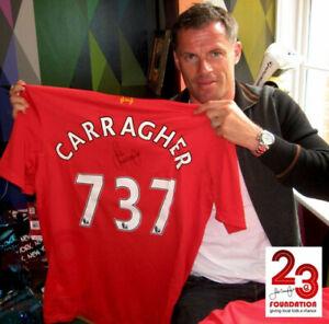 Jamie Carragher 737 Signed Shirt (Rare)