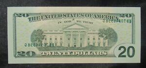2013 $20 Federal Reserve Note Error Wet Ink Transfer CU