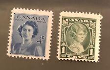CANADA postage stamps Princess Elizabeth 1 cent 4 cents   MNH
