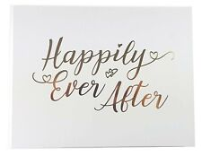 New HAPPILY EVER AFTER Wedding Guestbook - Guest Book Keepsake Anniversary Gift