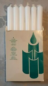 """Partylite Full Box of 6 Utility Candles 6"""" Unlit in box."""