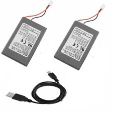 2 Pack Replacement Battery+charger cable For Sony Playstation 3 PS3 Controller
