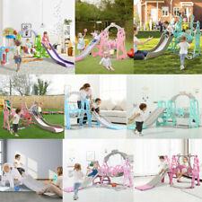 Toddler Indoor/Outdoor playground Set Swing Slide Set And Backyard Basketball
