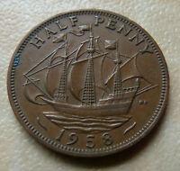 1958 - 1/2d  HALF PENNY COIN - ELIZABETH II