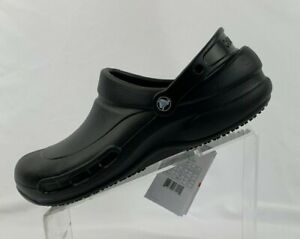 Crocs At Work Bistro Clogs 10075-001 Black Men's Multiple Size