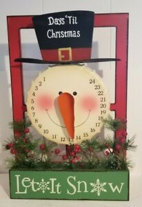Days 'Til Christmas Snowman Countdown Advent Calendar Let it Snow Cracker Barrel