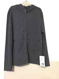 Men's Lululemon Athletica Hooded Zip/Pockets Light Jacket Large Dark Grey Full/Z