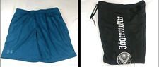 2 Pc Lot Under Armour Heat Gear Fitted Teal & Jagermeister Poly Black Shorts Xl