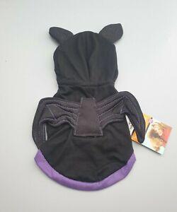 """Martha Stewart Extra Small Dog Halloween Vampire Bat Hoodie Costume 8"""" XS"""