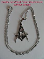 COLLIER PENDENTIF SYMBOLE FRANC-MAÇONNERIE franc-maçon masonic necklace pendant