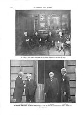 WWI Conseil des Quatre President Wilson Lloyd George & Clemenceau B ILLUSTRATION