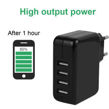 4.8A 4 Ports USB Portable Home Travel Fast Wall Charger US Plug AC Power Adapter