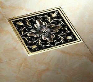 Brass Antique Brushed Floor Drain Bathroom Kitchen Shower Room Floor Waste Drain