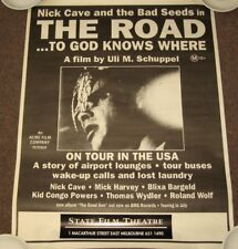 NICK CAVE & THE BAD SEEDS - RARE AUSSIE POSTER