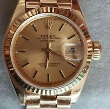 ROLEX OYSTER PERPETUAL DATE JUST LADY MUJER GOLD-ORO