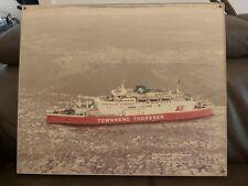 More details for vintage 1980s townsend thoresen free enterprise vii ship ferry hardboard print