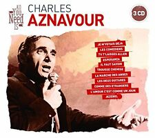 CD NEUF scellé - ALL YOU NEED is CHARLES AZNAVOUR / Digipack 3 CD-60 Titres -C22