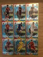 PANINI ADRENALYN XL EURO 2020 FULL SET OF ALL 9 KEY PLAYER CARDS 424-432