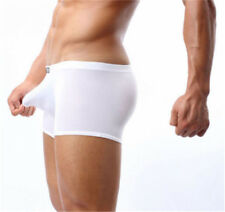 Men Comfy Breathable Seamless Underwear Ice Silk Boxer Briefs Shorts Underpants