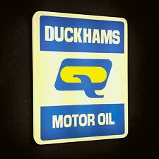 DUCKHAMS MOTOR OIL ILLUMINATED LED LIGHT BOX WALL SIGN GARAGE AUTOMOBILIA