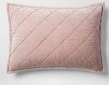 1 Fieldcrest Velvet Pillow Sham King Pink New