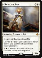 OKETRA THE TRUE Amonkhet MTG White Creature — God Mythic Rare
