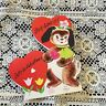 Vintage Greeting Card Valentine Cute Dog Hearts