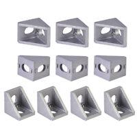 10pcs Grey Aluminum L Shape Bracket 90 Degree Corner Joint Brace Right Angle