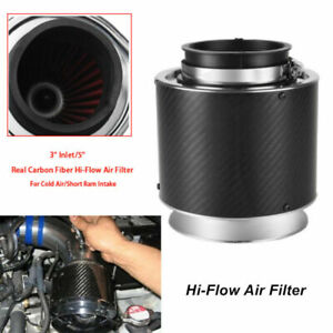 "Carbon Fiber Look Hi-Flow Air Filter For 3"" Pipe Cold Air/Short Ram Intake Valid"