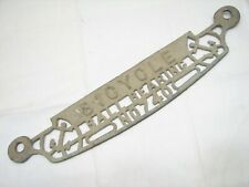 Antique Lovell Bicycle Anchor Brand Clothes Wringer Ball Bearing Sign Badge