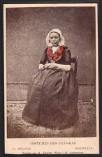 Costumes des Pays-Bas. La Zelande. Nieuwland. A. Jager. CDV Vers 1880