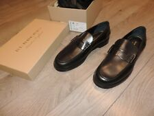 BURBERRY London Bedmont Penny Black Shoes Dress Loafers Slip On Mens 8 12 13
