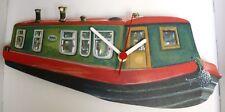 narrow boat wall hanging clock barge waterways green barge