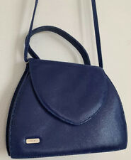 "Loriblu Small Shoulder Bag Royal Blue Couture Snake Skin  9"" x 7"" x 3"""